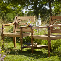 Small Image of Cleobury FSC Companion Garden Bench from Hartman