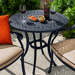 Small Image of Hartman Capri 76cm Bistro Table in Bronze