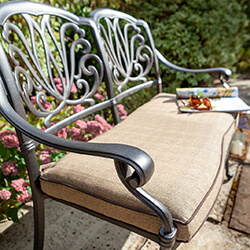 Extra image of 2019 Hartman Amalfi 2 Seat Bench in Bronze / Amber