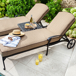Small Image of Hartman Amalfi Lounger Duet Set in Bronze Amber