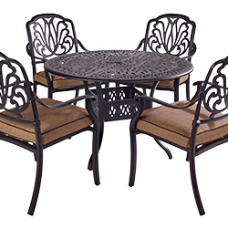 Extra image of 2019 Hartman Amalfi 4 Seat Dining Set in Bronze / Amber