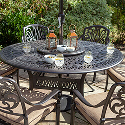 Extra image of Hartman Amalfi 6 Seat Round Dining Set in Bronze / Amber