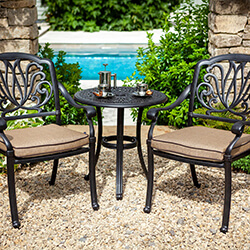 Small Image of 2019 Hartman Amalfi Bistro Set in Bronze / Amber