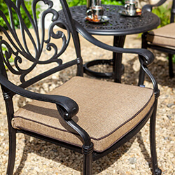 Small Image of Hartman Amalfi Dining Chair Bronze / Amber