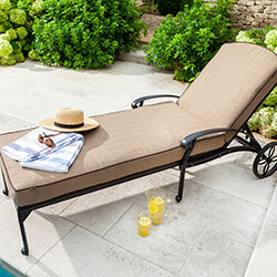 Extra image of Hartman Amalfi Lounger With Cushion in Bronze / Amber