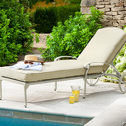 Small Image of Hartman Amalfi Lounger With Cushion in Maize / Wheatgrass