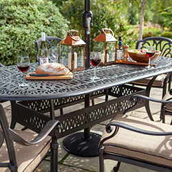 Extra image of 2019 Hartman Amalfi 6 Seat Oval Dining Set in Bronze/Amber