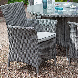 Small Image of Hartman Appleton Weave Dining Chair in Slate / Stone