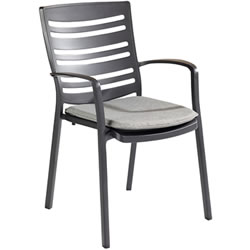 Extra image of Hartman Aurora Dining Chair in Carbon / Pewter