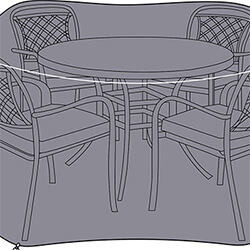 Small Image of Hartman Berkeley 4 Seat Round Dining Set Cover