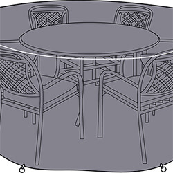 Small Image of Hartman Berkeley 6 Seat Round Dining Set Cover