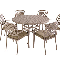 Extra image of Hartman Berkeley 6 Seat Round Dining Set in Maize / Wheatgrass