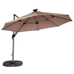 Extra image of Hartman Garden Cantilever Parasol 3m - Champagne/Caramel