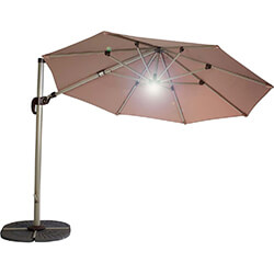 Extra image of Hartman Garden Cantilever Parasol 3m with LED light - Caramel/Champagne