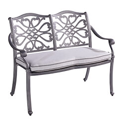 Extra image of Hartman Capri 2 Seat Bench in Antique Grey / Platinum