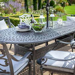 Extra image of Hartman Capri 6 Seat Oval Dining Set in Antique Grey