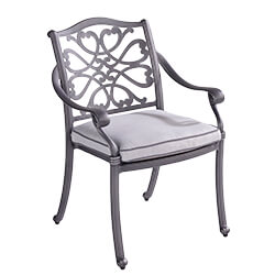 Small Image of Hartman Capri Dining Chair with Cushion in Antique Grey