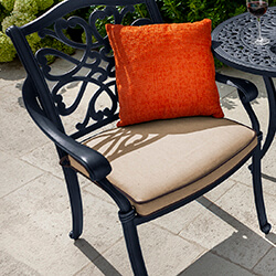 Small Image of Hartman Capri Dining Chair with Cushion in Bronze/Amber