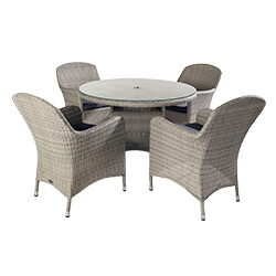 Extra image of Hartman Curve 4 Seater Dining Set in Cool Grey / Charcoal