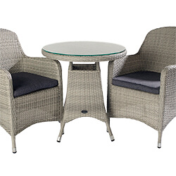 Extra image of Hartman Curve Bistro Set in Cool Grey / Charcoal