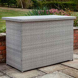 Hartman Curve Weave Cushion Box In Cool Grey 163 299