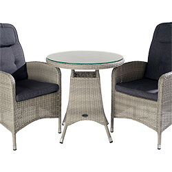 Extra image of Hartman Curve Reclining Bistro Set in Cool Grey / Charcoal