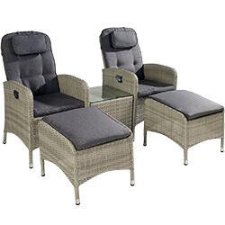 Extra image of Hartman Curve Reclining Companion Set in Cool Grey / Charcoal