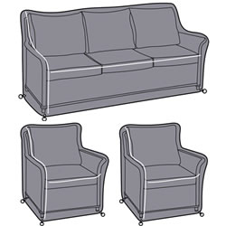 Small Image of Hartman Heritage 3 Seater Lounge Set Cover