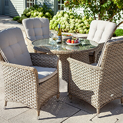 Small Image of Hartman Heritage 4 Seater Dining Set in Beech / Dove - NO PARASOL