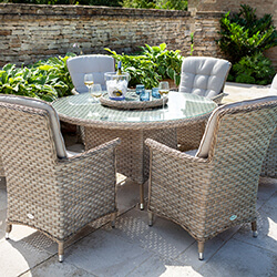 Small Image of Hartman Heritage 6 Seater Dining Set in Beech / Dove - NO PARASOL