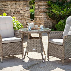 Small Image of Hartman Heritage Bistro Set in Beech / Dove