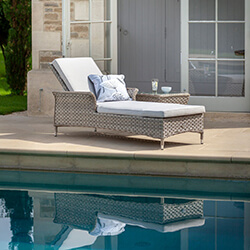 Small Image of Hartman Heritage Lounger with Cushion in Beech / Dove