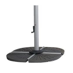Small Image of Hartman Garden Cantilever Wafer Parasol Base - Grey