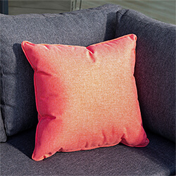 Small Image of Hartman Red Coral 45cm Square Waterproof Scatter Cushion