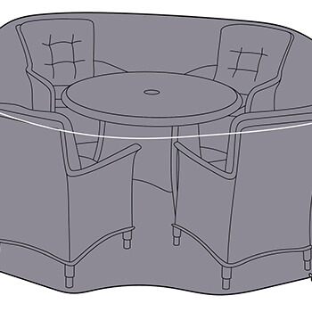 Small Image of Westbury 4 Seat Round Set Black Cover