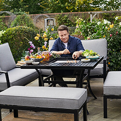 Small Image of Jamie Oliver Corner Sofa Grilling Set in Riven / Pewter