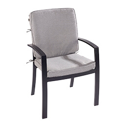 Small Image of 2019 Jamie Oliver Dining Chair With Cushion in Riven/Pewter