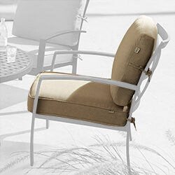 Small Image of Jamie Oliver ChillOut Chair Replacement Weatherready Cushion - Biscuit