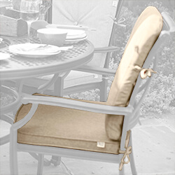 Small Image of Jamie Oliver Grilling Dining Chair Replacement Cushion Set - Biscuit