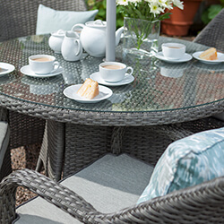 Extra image of Hartman Kingsbury Weave 4 Seater Dining Set in Slate / Stone