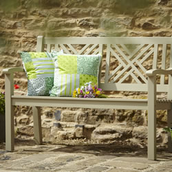 Small Image of Lovely 2 Seater FSC Garden Bench from Hartman