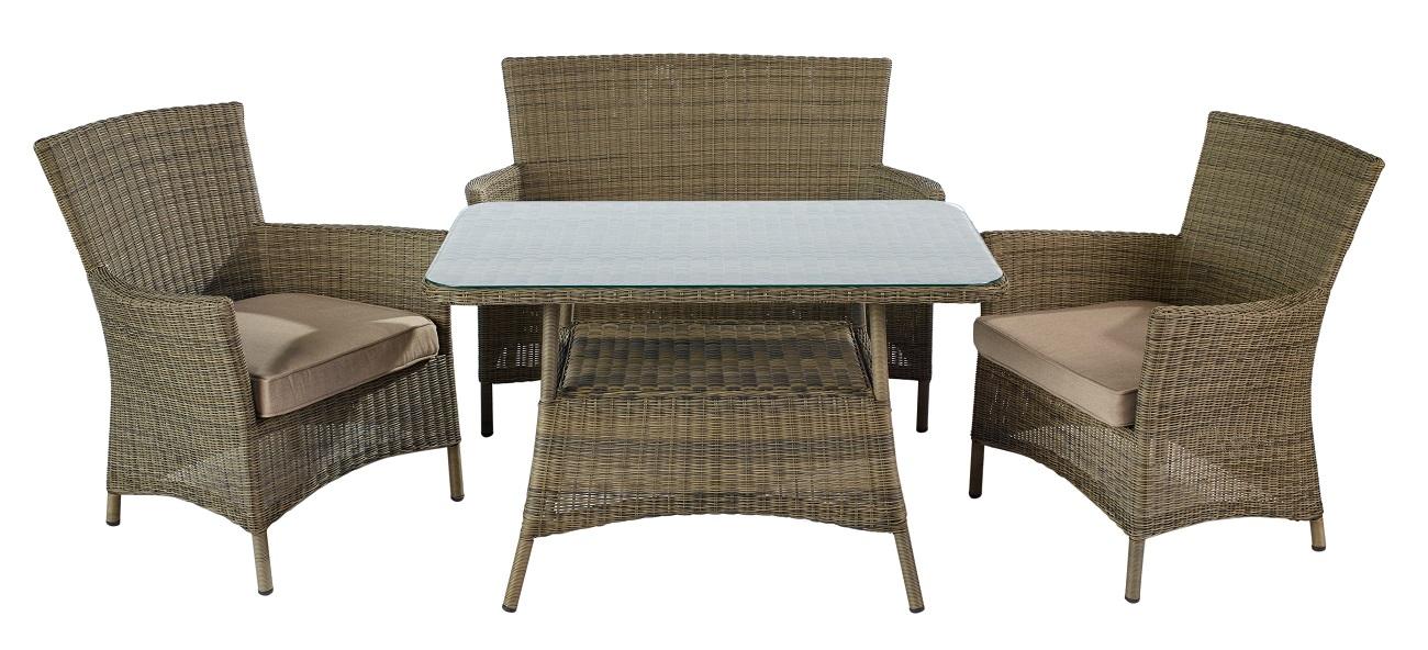 Lounge sofa rattan  Hartman Toscana Lounge Sofa Rattan Furniture Set - £499 ...