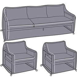 Small Image of Hartman Vienna Lounge Sofa Set Cover