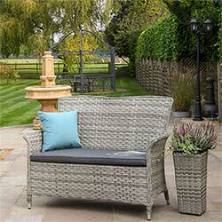 Extra image of Hartman Heritage 2 Seater Bench with Cushion in Ash / Slate