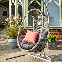 Small Image of Hartman Heritage Hanging Egg Chair with cushion in Ash / Slate
