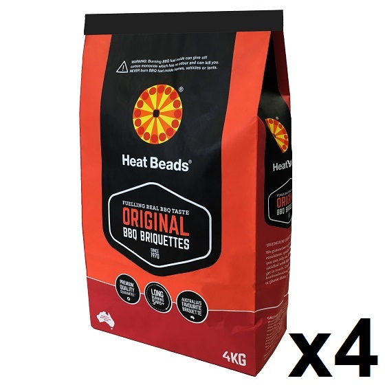 Small Image of Heat Beads BBQ Briquettes - 16kg (4x4kg Bags)