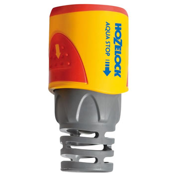 Image of Hozelock Hose End Aqua Stop Connector - 2055