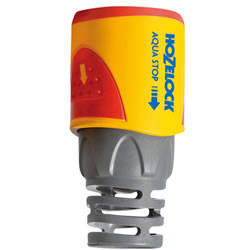 Small Image of Hozelock Hose End Aqua Stop Connector - 2055