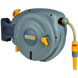 Small Image of Hozelock Mini Auto Reel Hose System - 2485