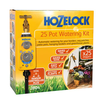 Image of Hozelock 25 Pot Automatic Watering Kit with Sensor Plus Timer